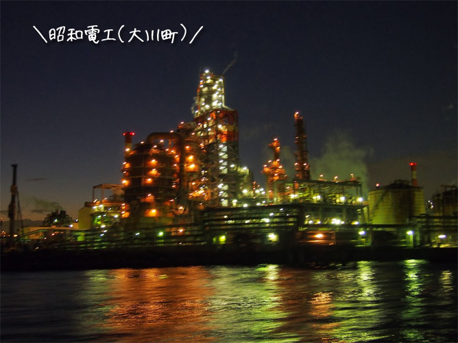 工場夜景ジャングルクルーズ 昭和電工(大川町側)