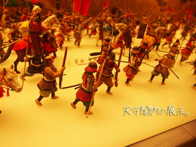 大阪城天守閣の展示