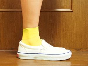 靴下屋黄緑靴下・ソックス 長さ別コーディネート