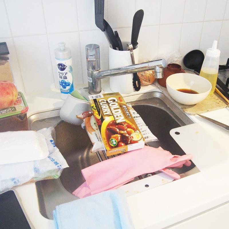 引っ越し直前の台所