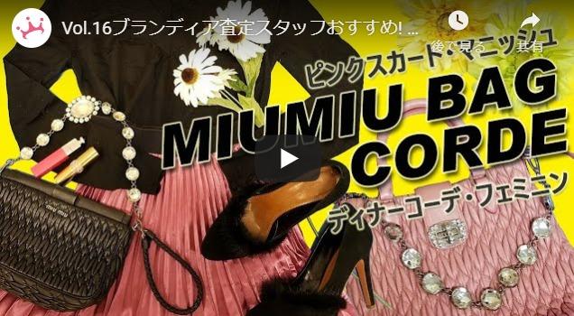 ミュウミュウのバッグを使ったコーディネート